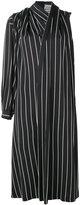 Balenciaga draped stripe dress