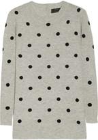 Polka-dot cashmere sweater