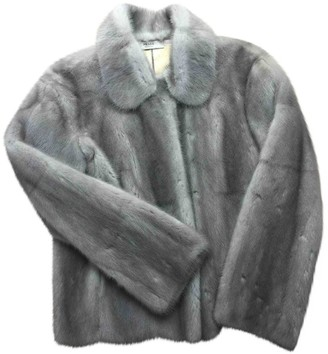 Prada \N Grey Mink Leather jackets