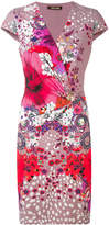 Roberto Cavalli Garden of Eden print dress