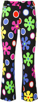 Moschino flower power cropped trousers - women - Rayon/other fibers - 38