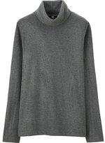 Uniqlo Women Heattech Fleece Turtle Neck Long Sleeve T