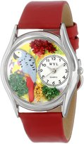Whimsical Watches Women's S0150002 African Gray Parrot Green Leather Watch