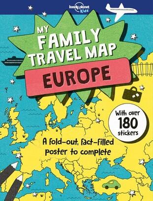 Lonely Planet Lonely Planet Lonely Planet My Family Travel Map - Europe 1st Ed.