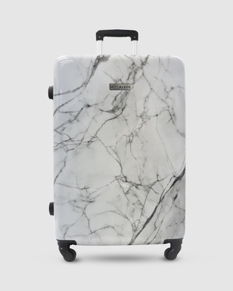 Jett Black White Marble Series Luggage Set