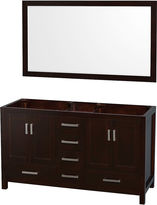 WYNDHAM COLLECTION Wyndham Collection Sheffield 60 inch Double Bathroom Vanity