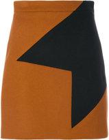 MSGM geometric appliqué skirt
