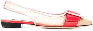 Sergio Rossi Colour-Block Ballerina Shoes