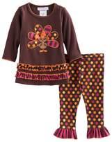 Bonnie Jean Baby Girl Thanksgiving Turkey Tunic & Leggings Set