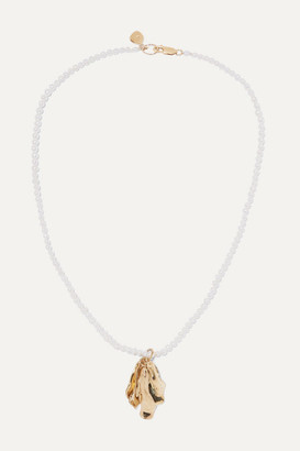 Azalea Leigh Miller - Net Sustain Gold-plated Pearl Necklace