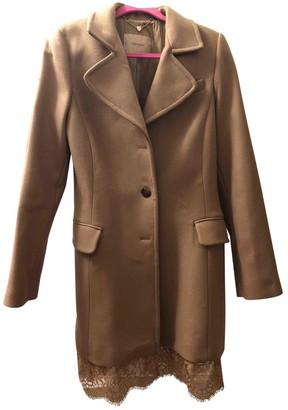 Twin-Set Twin Set Beige Wool Coat for Women