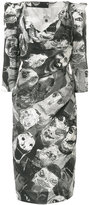 Vivienne Westwood printed fitted dress - women - Cotton/Viscose - 42