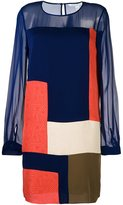 Diane von Furstenberg sheer sleeves dress - women - Silk/Polyester/Spandex/Elastane - 10