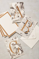 Anthropologie Marbled Monogram Cards