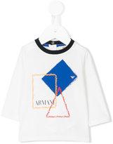 Armani Junior printed T-shirt - kids - Cotton/Spandex/Elastane - 6 mth