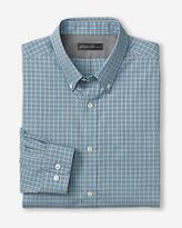 Eddie Bauer Men's Wrinkle-Free Relaxed Fit Pinpoint Oxford Shirt - Long-Sleeve Seasonal Pattern