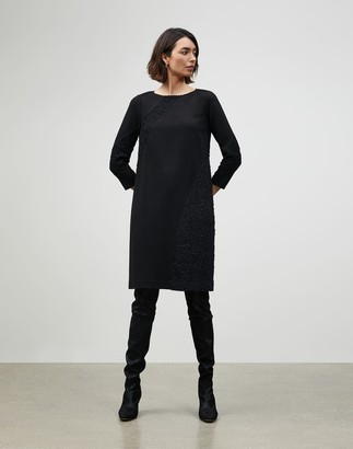 Lafayette 148 New York Petite Punto Milano Lace Panel Brianne Dress