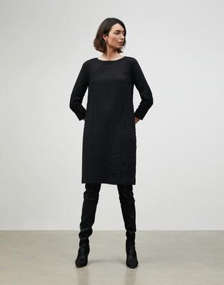 Lafayette 148 New York Plus-Size Punto Milano Lace Panel Brianne Dress