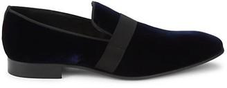 Saks Fifth Avenue Venetian Velvet Leather Penny Loafers