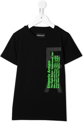 Emporio Armani Kids graphic-print crew neck T-shirt