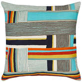 west elm Pinwheel Crewel Cushion, Multi