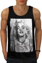 Marilyn Monroe Chick Lady Idol Men NEW L Tank Top | Wellcoda