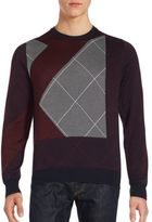 Brioni Crisscross Patchwork Sweater