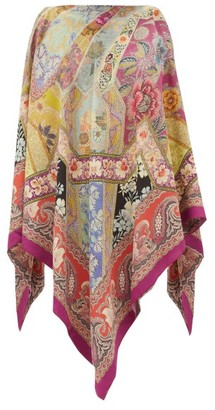 Etro Handkerchief-hem Printed Blouse - Pink Multi