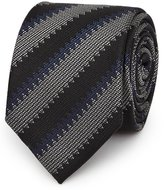 Reiss Dornell - Striped Silk Tie in Black, Mens