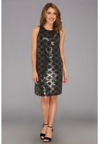 Laundry by Shelli Segal All Over Sequin Shift (Dark Charcoal) - Apparel