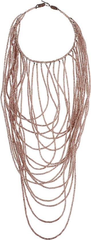 Brunello Cucinelli Multi Strand Small Bead Necklace
