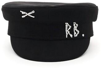 Ruslan Baginskiy Crystal Embellished Baker Boy Hat