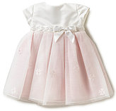 Joan Calabrese Baby Girls 6-24 Months Satin Bow Pleated Tulle A-Line Dress