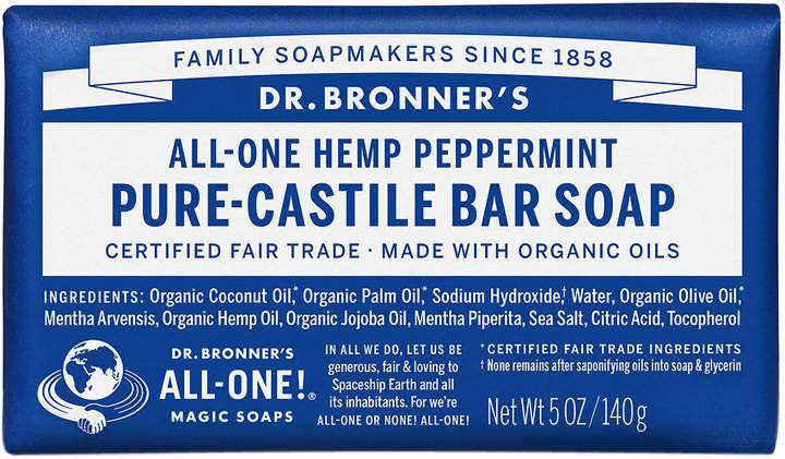 Dr. Bronner's All-One Hemp Pure-Castile Soap Bar Peppermint