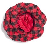hook + ALBERT Men's Poplin Check Lapel Flower