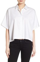 KENDALL + KYLIE Women's Back Lace-Up Shirt