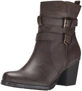 Naturalizer Womens Transform Faux Leather Ankle Boots Brown 6.5 Medium (B,M)