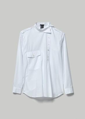 Ann Demeulemeester Women's Asymmetry Button Down Dress in White Size 38