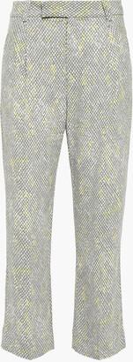 Equipment Bergen Snake-print Washed-crepe Kick-flare Pants