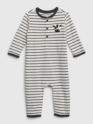 Gap Baby Organic Stripe Long Sleeve One-Piece
