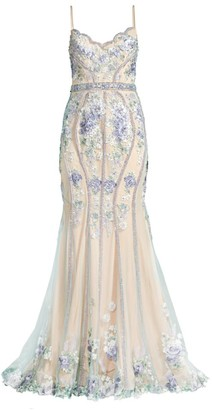 Jovani Embroidered Flower Gown