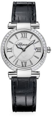 Chopard Imperiale Stainless Steel, Diamond, Amethyst & Alligator-Strap Watch