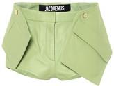 Jacquemus Le Short Boca leather shorts