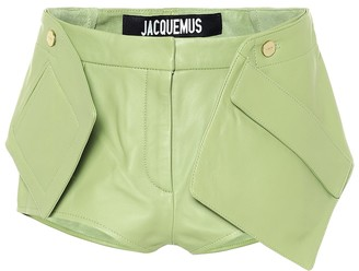 Jacquemus Le Short Boca leather shorts