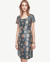 Ann Taylor Metallic Jacquard Flare Dress