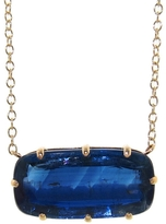 Jamie Joseph Large Emerald Cut Kyanite Prong Pendant Necklace