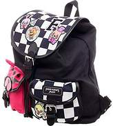 Bioworld Five Nights at Freddy's Checkered Print Knapsack w/ Patches