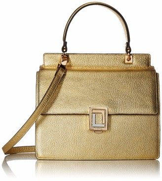 Luana Italy Women's Rita Mini Satchel Gold Leather Handbag