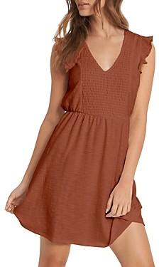 Roxy Morning Breeze Ruffled Mini Dress