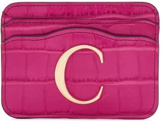 Chloé C Crocodile-effect Card Holder